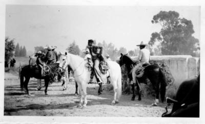 Herbert Johnson. c. 1943. Horsemanship and bullfight.
